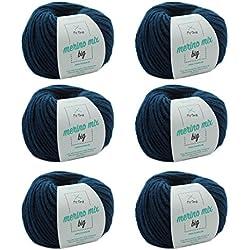 MyOma W0MY-04-A-3850-06 Jeans (Fb 3850) - Vaqueros de lana merino (6 ovillos, grosor de aguja de 50 g, grosor de aguja de 7 mm, miola)