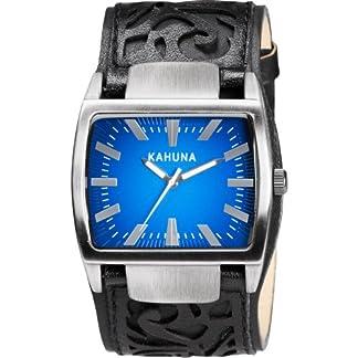 Kahuna KUC-0049G – Reloj analógico de Cuarzo para Hombre con Correa de Piel, Color Negro