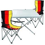 Mojawo ® 3tlg. Campingmöbel Set Alu 1x Campingtisch mit Tragegriff 60x80 cm + 2 Anglerstühle, Faltstühle Campingstuhl