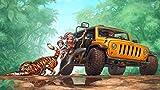 SBXPINTU SUV Uomo Che Cattura Una Tigre Puzzle Adulti Giocattolo Creativo Legno DIY Gioco Jigsaw Puzzle 500 Pezzi