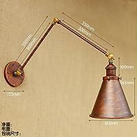 YJNB 30Cm Oscillante Regolabile Lungo Braccio Luce Vintage Loft Lampada Da Parete Antica Edison Industriale Da Parete Applique Applique Murale Apparecchiatura,B - B / N Luce Di Emergenza