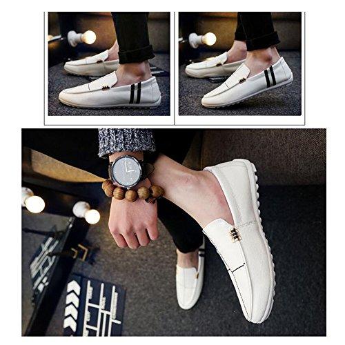 XUEQIN Tendenza delle scarpe da uomo Scarpe casuali degli uomini britannici di autunno Il nuovo comodo da indossare ( Colore : Bianca , dimensioni : EU41/UK7.5-8/CN42 ) Bianca
