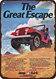 Laptopo 1974 Jeep Renegade & CJ-5 4X4 Vintage Look Replica Metal Sign - The Great Escape