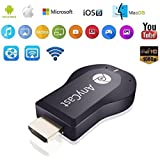 Easypro™All Leading Smartphone Compatible Anycast TV Stick, AnyCast 1080P WiFi Wireless Mini Display Receiver Dongle HDMI TV Miracast DLNA Airplay For IOS Apple IPhone IPad Android Smartphone Windows Mac