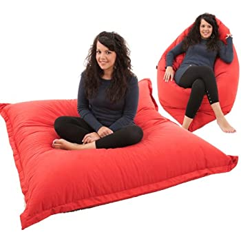 RAVIOLI GIANT   RED Bean Bag Chair Indoor / Outdoor Beanbag Floor Cushion