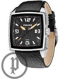 Police PL.13839JS-02 - Reloj analógico de cuarzo para hombre, correa de cuero color negro