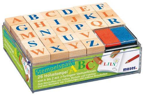 Moses 26843 - Set di timbrini con lettere dell'alfabeto A-Z