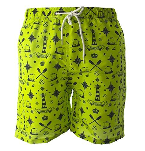 Shorts Cortos para Hombres, Bañadores, Shorts con Bolsillos, Shorts con cordón, Secado rápido, Boxers de poliéster, de Bath, Beach, Sea, Surf, Natación, Printed Fantasy