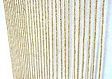 Perlenvorhang, Gardine, Jalousie, Fliegengitter, Trennwand aus Bambus-Holz. natur