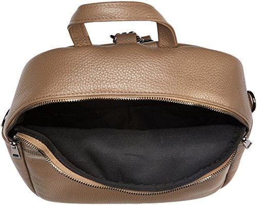 Chicca Borse Damen 8702 1 Rucksackhandtaschen, 28x32x15 cm Beige (Taupe)