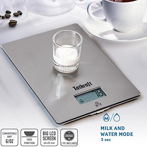 Tatkraft Hi-tech Digitale Küchewaage zum Aufhängen 5 Kg Silber Edelstahl