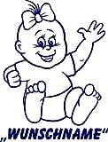 INDIGOS UG - Babystrampler / Strampler 074 mit Wunschname / Wunschtext schwarz 86/92