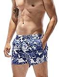 SEOBEAN Herren Badehose Badeshorts Board Shorts Strand Shorts (S(28-30