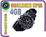 OROLOGIO SPIA MICRO CAMERA 4GB SPY WATCH + MICROCAMERA + FOTOCAMERA + REC AUDIO