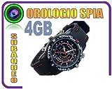OROLOGIO SPIA MICRO CAMERA 4GB SPY WATCH + MICROCAMERA + FOTOCAMERA + REC AUDIO