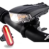Fahrradlicht Set, FisherMo LED Fahhradbeleuchtung USB Wiederaufladbare Super Hell Fahrradlampe 400 Lumen mit Fahrrad Rü