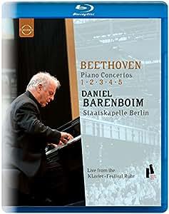 Beethoven Piano Concertos 1 - 5 ( Daniel Barenboim Staatskapelle Berlin) [Blu-ray] [2009] [NTSC]