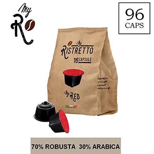96 Kaffeekapselmaschine Kaffee MyRed vereinbar für alle Nescafé Dolce Gusto Maschinen - 96...