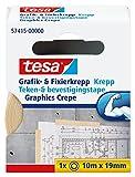 tesa Grafik- und Fixierkrepp, rückstandsfrei ablösbar, 10m x 19mm