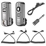 Neewer FC-16 Multi-Canal 2.4 GHz 3-IN-1 - Disparador Flash Inalámbrico/ Flash Estudio con Obturador Remoto para D7100 D7000 D5100 D5000 D3200 D3100 D600 D90 D800E D800 D700 D300S D300 D200 D4 D3S D3X D2Xs