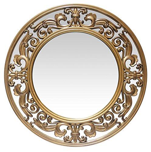 Viktorianischen Esszimmer-möbel (Infinity Instruments Victoria Wandspiegel, gebürstet, 58,4 cm, goldfarben)