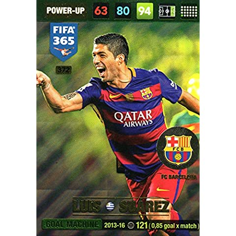 Panini FIFA 365Adrenalyn XL Luis Suárez meta máquina tarjeta de comercio