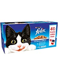 Felix Fish Selection in Jelly Wet Food Pouch, 40x100g