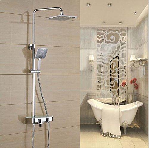 Luxurious shower Nouvelle arrivée de luxe en laiton chrome robinet de douche pluie Mitigeur baignoire avec douche à main ABS Baignoire et robinet de douche