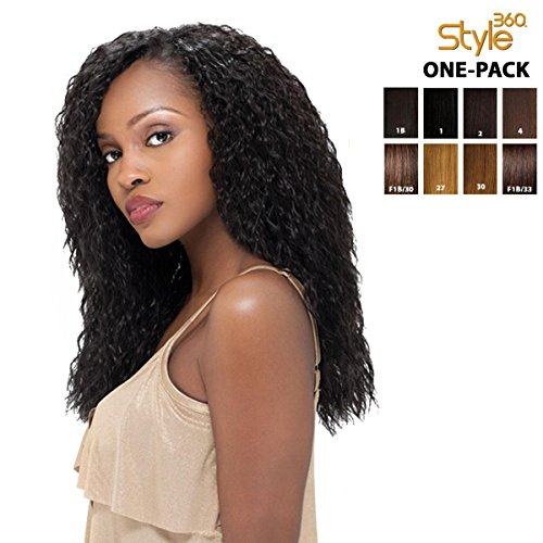 [2 mèches + Closure] sensationnel style 360 – Super Wave (4 pieces) (12, 14 'One Pack Complete)