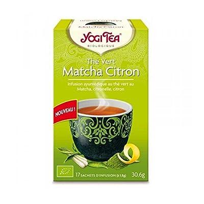 Yogi tea Thé Vert Matcha Citron Bio 17 Sachets 36,6 g