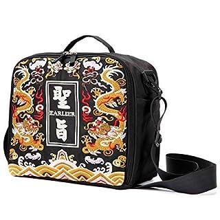 Große Aufbewahrungstasche für Marker, Stifte, Pinsel, Stifte, Buntstifte, Kunst- und Bastelbedarf, für Kosmetik Black Dragon Embroidey