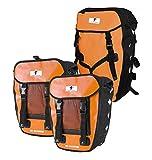 Red Loon Pro 3er Set Packtasche Orange/Schwarz LKW-Plane 2 Hecktaschen 1 Rucksack Gepäckträger