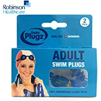 2 Pairs Of Robinson Healthcare Adult Silicone Swimming Push In Ear Plugs With Safety Cords