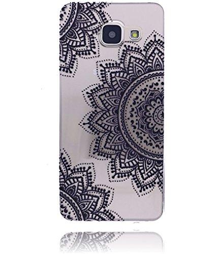 Apple iPhone 6 / 6S Hülle Burkley Silikon Schutzhülle | Mit Motiv | Handyhülle | Cover | Case | Tasche | Hülle mit Motiv Mandala Medallion Mandala Half Flower