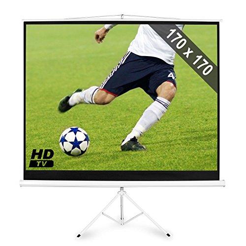 """Frontstage Pantalla de proyector Calidad HDTV • Medidas 189 cm o 96"""" • Formato 1:1 • Cine en casa • 170 x 170 cm • Incluye Trípode"""