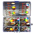 MKNZONE 20 pcs Artificial Fishing Lure Set, Fishing Baits Kit Set with Tackle Box Soft Bait with Hook Accessories Set