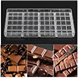 JoyGlobal Professional Polycarbonate Chocolate Bar Mould (Chocolate Weight Approx 45 Grams Per Bar, Total 4 Bars in One Mould)