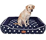 #7: Pet Glam Luxury Star Bed XXL-Washable dog bed For Golden Retriever Labrador German Shepherd Rottweiler