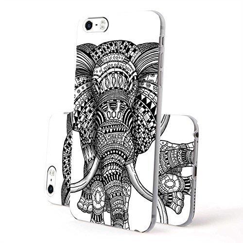 Super Nah-folie (FINOO ® | Iphone 6 / 6S Plus Hardcase Handy-Hülle | Transparente Hart-Back Cover Schale mit Motiv Muster | Tasche Case mit Ultra Slim Rundum-schutz | stoßfestes dünnes Bumper Etui | Elefant Nah)