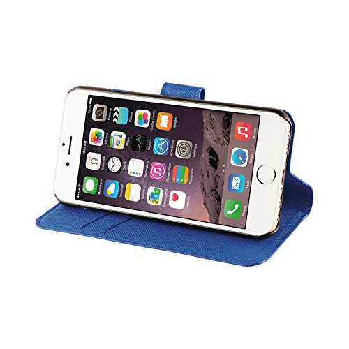 Xqisit Viskan Etui folio pour iPhone 7 Vert Bleu