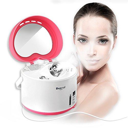 Besmall Multifunktional Gesichtssauna Face Steamer Nano-Ionen Gesichtsdampfbad Gesichtspflege Dampfgerät (Rot)
