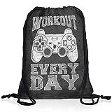 style3 Gamer Workout Rucksack Tasche Turnbeutel Sport Jute Beutel, Rucksack FARBE:Motiv 2