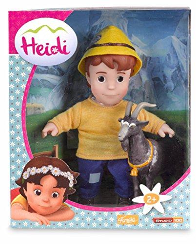 Studio 100 700012540 - Heidi - Puppen-Set - Peter mit Ziege, 2-teilig