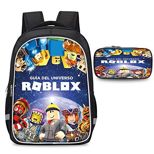 Roblox Daypacks Bunter Rucksack-grundlegender wasserdichter Faltbarer Reise-Daypack-Schulrucksack mit Federmäppchen Unisex (Color : A03, Size : 30 X 17 X 42cm)
