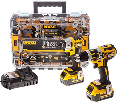 dewalt-dck259m2th-18-v-xr-li-ion-brushless-combi-drill-and-impact-driver-twin-pack