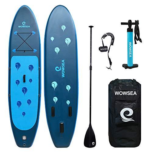 WOWSEA Surfboard aufblasbar Paddle Board Set mit Größ… | 00657552939915