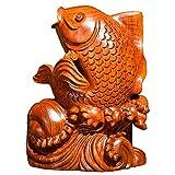 LEENY Holz Schnitzereien Fisch Bonsai Root Carving Handgeschnitzte Wurzel Fische Home Decoration Wohnzimmer TV Schrank Holz Ornamente Bürobedarf Vorgestelltes Geschenk Fisch-Dekoration