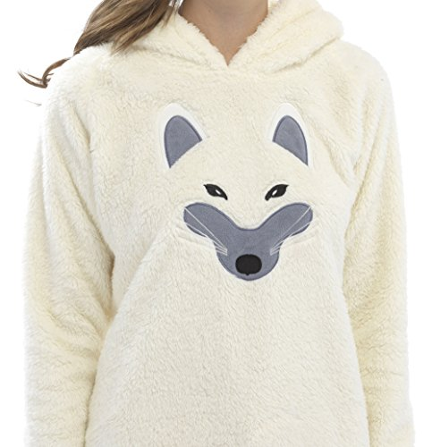Foxbury Women's Embroidered Raccoon or Fox Design Snuggle Top