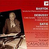 Sonata for 2 pianos and percussion / Bartok ; Cello Sonata - Violin Sonata - En blanc et noir / Debussy ; Trois morceaux en forme de poire / Satie   Bartók, Béla (1881-1945). Compositeur