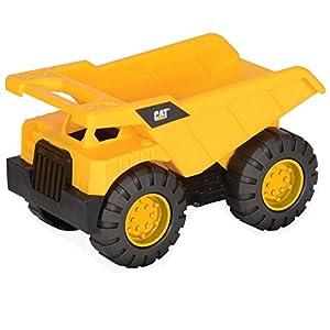 Animagic- Disney Vehículo De Obras Públicas Y Construcción Mini Workers Camión Volquete, Color Amarillo (Toy State 82011)